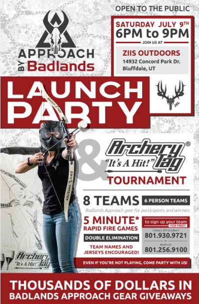 Badlands Launch Party Flier